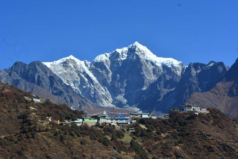 Khangtega view from Mongla - Everest region