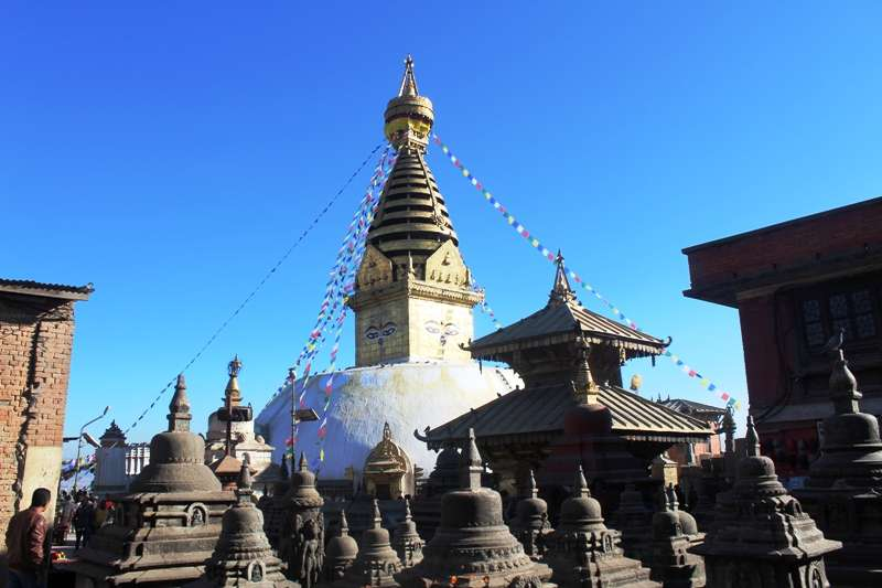 Swayambhunath is one of the holiest places of worship in Kathmandu Valley