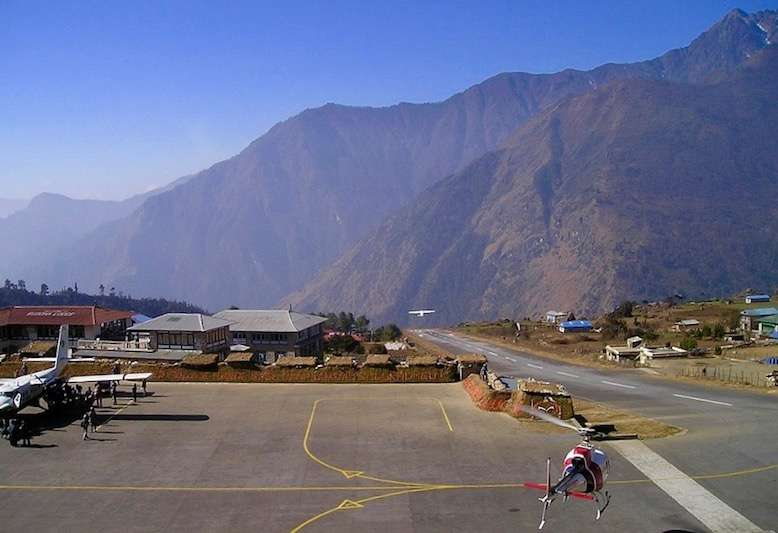 Lukla Airport in nepal trek to Everest base camp